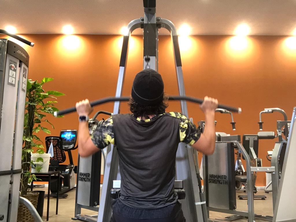 セットアップ,上腕筋と背筋を鍛える