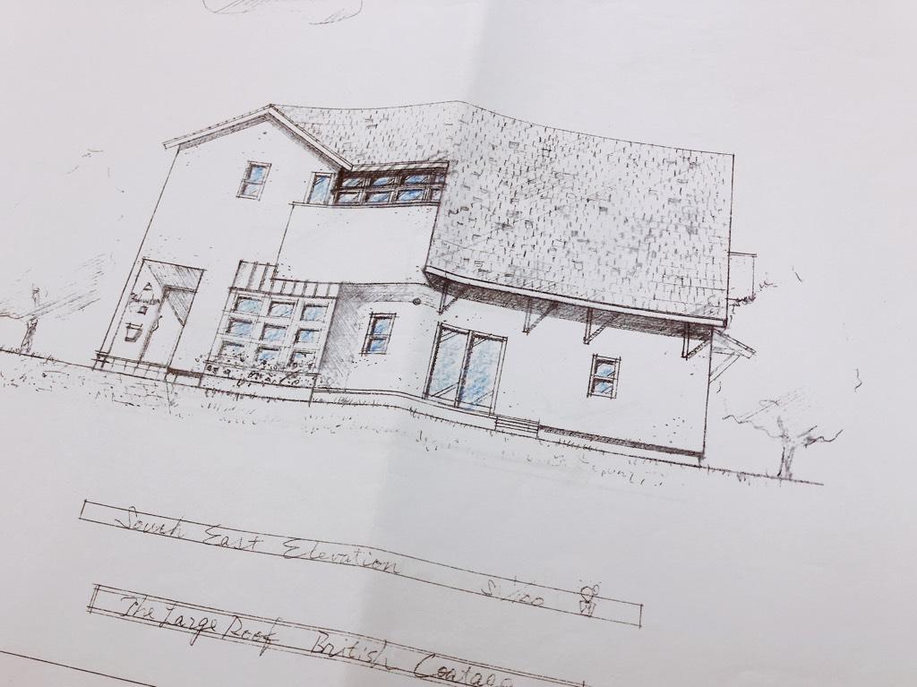 新築プラン,手描きの立面