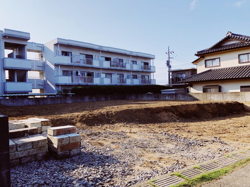 解体後の敷地,新築予定