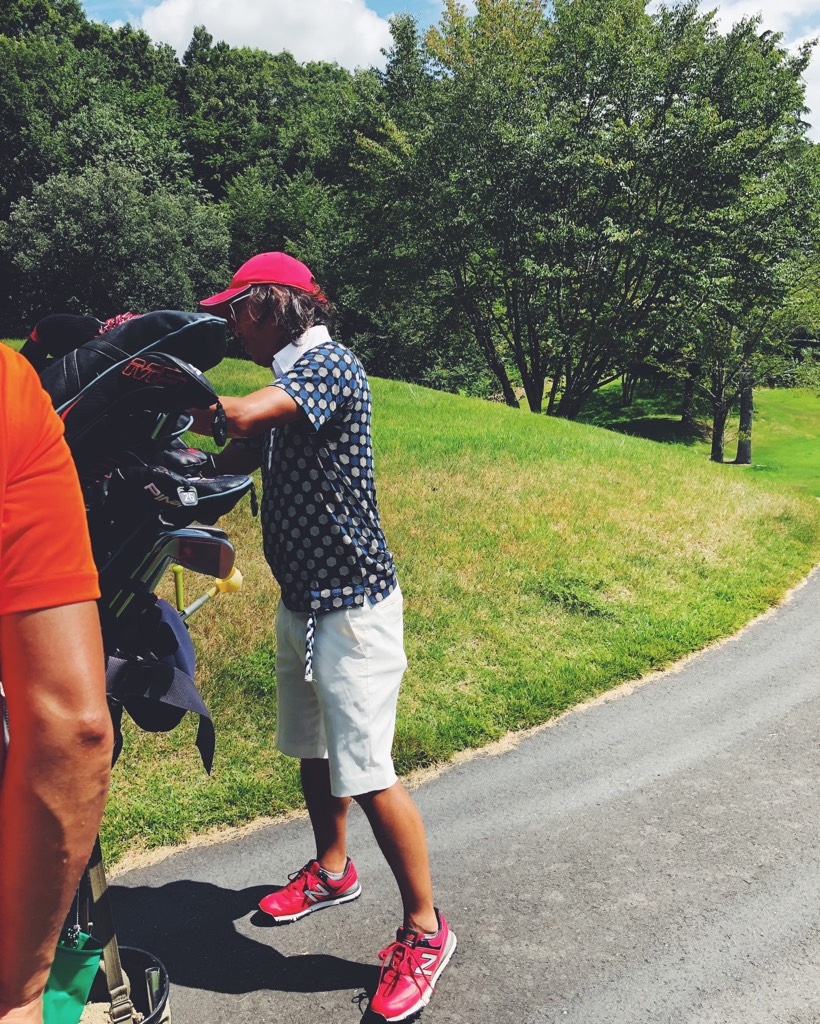 休日のゴルフ