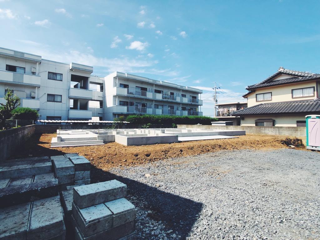 水戸市の新築 基礎全景