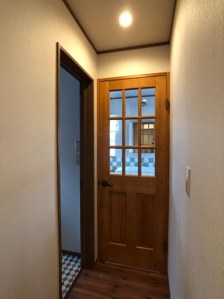 2階洗面脱衣室の入り口