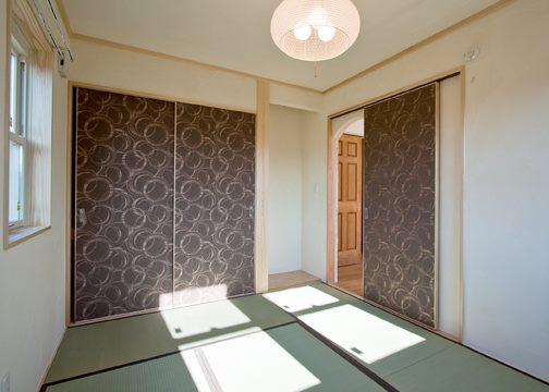 扉部分を洋風にした和室
