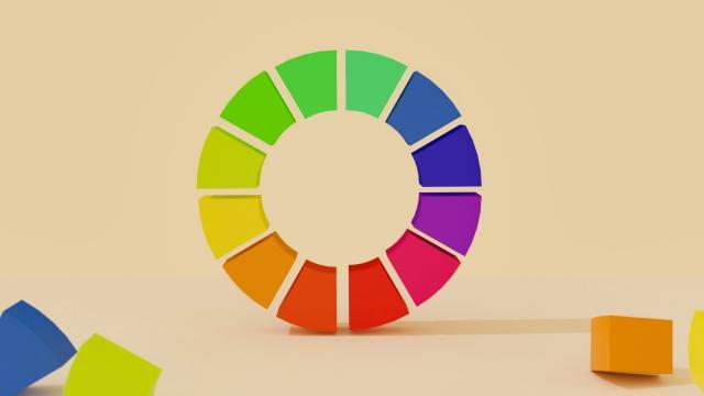 配色のヒントになる色相環