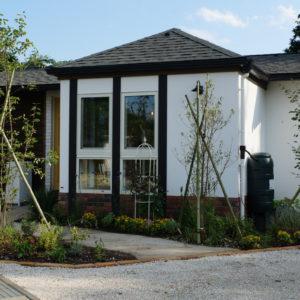 漆喰の外壁にリフォーム|イギリス風のかわいいお家