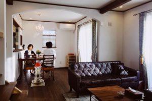 アーチづかいの漆喰の家(水戸市A様邸)